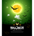 Happy Halloween ghost design vector image