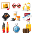 highly detailed travelling icons set vector image