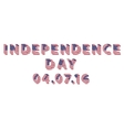 Independence Day letters from USA Flag vector image