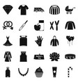 relations icons set simple style vector image