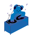 Teddy bear dj vector image