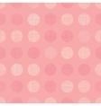 Vintage Pastel Salmon Pink Baby Girl Dots vector image