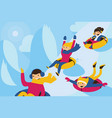 with lovely family tubing down vector image