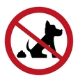 no dog pooping sign icon vector image