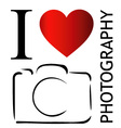 I love photography vector image