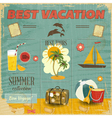 Summer Card in retro Style vector image vector image