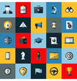 Flat design icons set of SEO and social media vector image vector image
