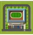 City stadium top view vector image
