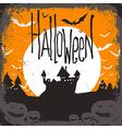 halloween haunted castle vector image vector image
