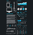 music infographics vector image vector image