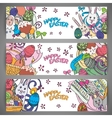 Set of creative multi colour banners for vector image vector image