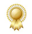 Golden rosette vector image