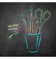 Art tools in holder vector image