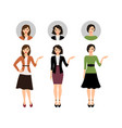 cartoon teacher women set vector image