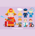 childrens people profession vector image