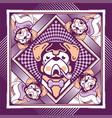 dog violet vector image