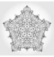 Mandala star backgroundTribalethnic pattern vector image