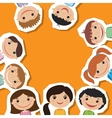 smiling children Flat style vector image