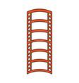 video tape segment icon image vector image