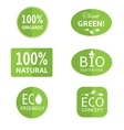 Ecology labels collection vector image