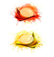 Collection of colorful abstract watercolor banners vector image vector image