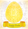 Happy Easter gold egg Vector Image
