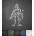 knight icon Hand drawn vector image