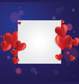 realistic hearts background vector image