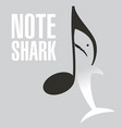 a great white shark note vector image