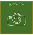 of camping symbol on camera vector image