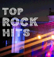 Rock music poster Banner top hits vector image