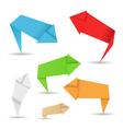origami arrows vector image vector image