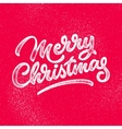 Merry Christmas Lettering Badge vector image vector image