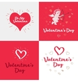 Set of the Valentines day cards vector image