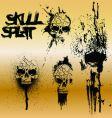 skull splat vector image vector image