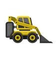 Bobcat Machine Icon Flat Style Design vector image