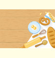Baked Products And Cooking Tools Composition vector image