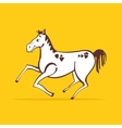 Cheerful horse vector image