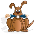 dog and the mail vector image