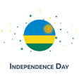independence day of rwanda patriotic banner vector image