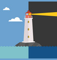 lighthouse in day and night vector image