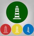 lighthouse sign 4 white vector image