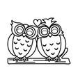 lovebirds romantic valentines day icon image vector image