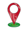 pointing map navigation gps location vector image