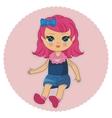 pretty doll vector image