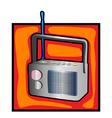 Retro radio clip art vector image