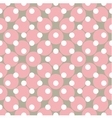 Seamless pink pattern with polka dots vector image