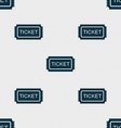 Ticket icon sign Seamless pattern with geometric vector image