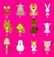 12 chinese zodiac icon set vector image