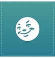 Smile flat icon vector image